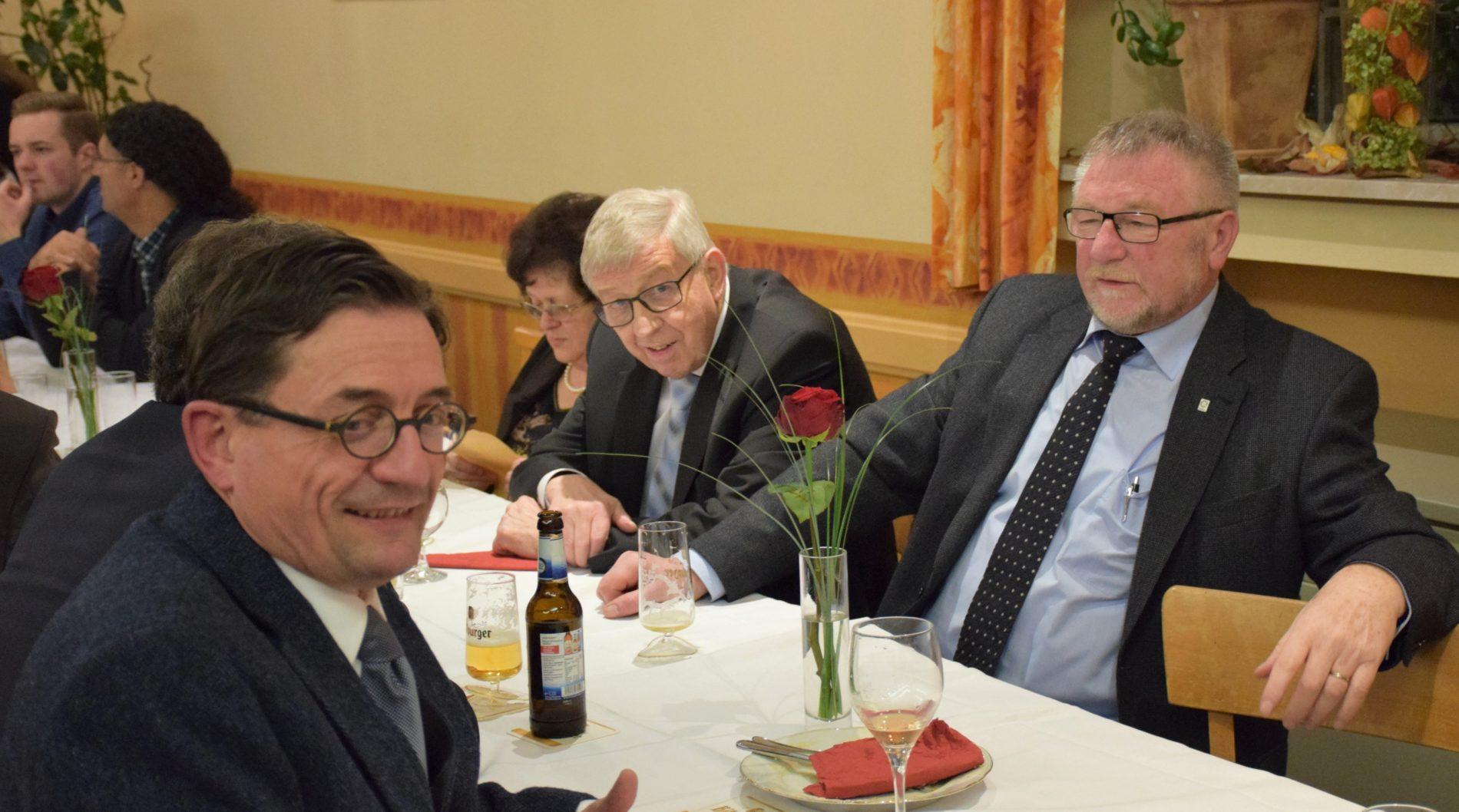 Carlo Sente, Heinz Junk und Paul Schaefer